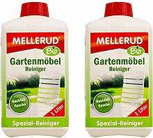 2x MELLERUD Bio Gartenmöbel Reiniger 1 L Garten Möbel Kunststoff Holz Metall