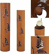 2X Metall Edelrost Windlichtset Kerzenhalter