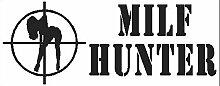 2x MILF HUNTER JDM STICKER AUFKLEBER schwarz oder weiss UNDERGROUND GRAPHIX (monster gruen)