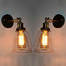 2x Modern Industrielle Metall Glas Einzel