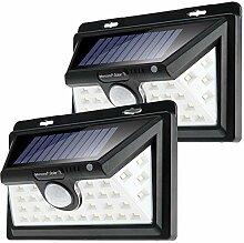 2x monzana Außenleuchte Solar | 34LED | 63 Lumen