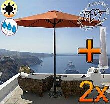 2x PREMIUM-Sonnenschirm mit Hülle / MEGA-XXL