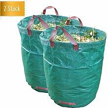 2x Reißfester Gartensack extra groß mit 272