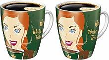 2x Ritzenhoff Sammelbecher 15. Edition limitiert Jacobs Kaffeebecher Becher Tasse bun