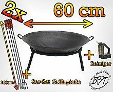 2X Stck. Holzfeuer Feuerschale für Grill,