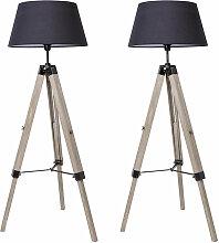 2x Stehlampe Tripod höhenverstellbar Stehleuchte