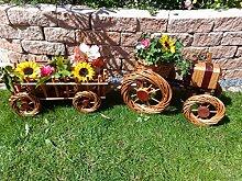 2x Traktor+Hänger Anhänger hell 45 + 45 cm aus