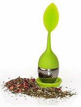 2x vitasteTM Tee-Ei aus Silikon und Edelstahl -