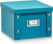 2x Zeller Aufbewahrungsbox aus Pappe, petrol, für