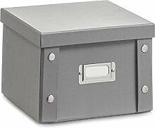 2x Zeller DVD BOX mit Deckel grau für 26