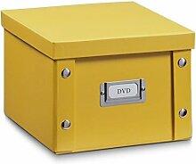2x ZELLER DVD BOX mit DECKEL PAPPE mango für 26