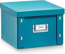 2x ZELLER DVD BOX mit DECKEL PAPPE petrol für 26