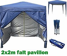 2x2m Pavillon, Gartenpavillon, Falt-Pavillon, Festzelt, Partyzelt, Komplettset in 4 Farben von MCC, BLAU