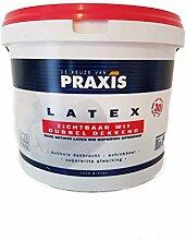 2x5 l Praxis Latex Wandfarbe Seidenglänzend Weiß