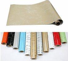 2xKINLO PVC 0.61 x 5M Küchenschränke Klebefolie Wasserfest Selbstklebende Aufkleber Folie aus hochwertigem PVC für Möbel Küche Schrank (Gelb)
