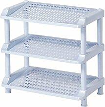 3/4 Tier Schuh Rack Kunststoff Einfache Lagerung Schrank Möbel Kreative Einfachheit Organizer Regale (hellblau) ( größe : 3tier )