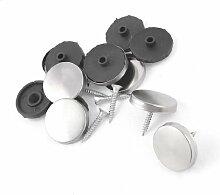 3,5mm Dia Metall Schrauben 28mm Dia Cap Tee Tisch Spiegel Nägel 8PCS