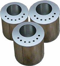 3 Brenndosen & 3 Sparplatten Weißblechdosen Behälter Gelkamin Kamin