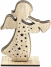 3-D Engel aus Holz, Design 1, 12,3cm x 16,5cm, zum