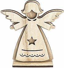 3-D Engel aus Holz, Design 2, 14,4cm x 16cm, zum