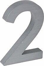 3-D Hausnummer (2) Aluminium massiv 10cm Haustür