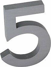 3-D Hausnummer (5) Aluminium massiv 10cm Haustür
