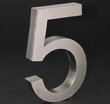 3-D Hausnummer (5) Edelstahl 20cm Haustür