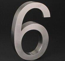 3-D Hausnummer (6) Edelstahl 20cm Haustür