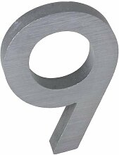 3-D Hausnummer (9) Aluminium massiv 10cm Haustür
