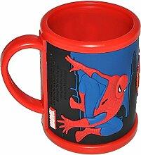3-D Henkeltasse Spiderman groß - Trinktasse Tasse Kunststoff Amazing Spider Man Spinne Spider-Man für Jungen