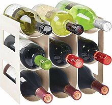 3 Ebenen Kunststoff freistehende Weinregal,