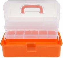 3 Ebenen Plastik Aufbewahrungsbox mit Tragegriff -
