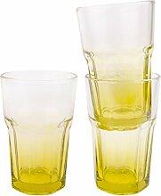 3-er Set Gläser Bunt Cocktail Longdrink Glas