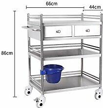 3-Etagen Küchenwagen | Edelstahl Servierwagen