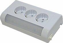 3-fach Kombi-Steckdose Aufputzsteckdoset NEU Aufputz 3 steckplätze mit LED lampe 400lm 4w Hergestellt im EU