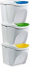 3-fach Kunststoff Mülleimer Mülltrennsystem