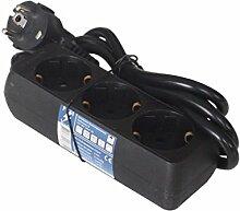 3-fach Steckdosenleiste Mehrfachsteckdosen Steckerleiste Mehrfachstecker mit 1,5m Kabel