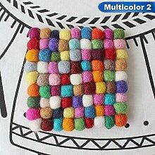 3 Farben 10 * 10 cm Tasse Runden Platz Coaster