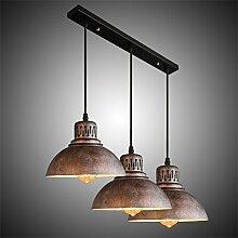 3 Fischlinie retro-Lampen Kronleuchter Restaurant Pendelleuchte Tischleuchte American Iron Chandelier Bar Bar