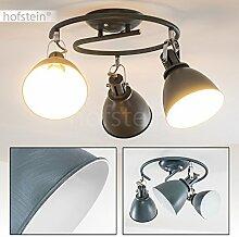 3-flammige Deckenleuchte KOPPOM aus Metall – Zimmerlampe in Grau-Blau – Deckenlampe für Wohnzimmer – Flur – Schlafzimmer – Esszimmer - dreh- und schwenkbare Lampenschirme – 3x E14-Fassung 40 Wa