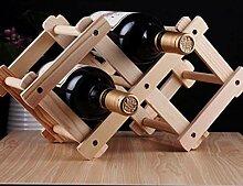 3 Flasche Holzklapper Weinregal-Halter