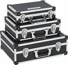 3-in-1 Alukoffer Aluminium Rahmen Koffer Allround
