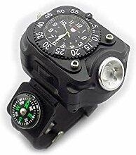 3-in-1-LED-Taschenlampe mit Kompass, sehr hell,
