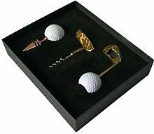 3 in einem Metallkorkenzieher Golfform