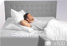 3-Kammer-Kopfkissen, N500, Schlafstil weiß, 80x80