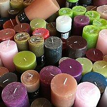 3 KG durchgefärbte Rustic Kerzen A-Ware,