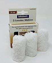 3 Lasutec-Walzen aus Microfaser, 60mm