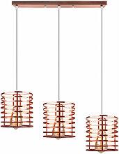 3 Lichter Roségold Industrie Deckenleuchte Oval