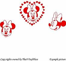 3 Minnie mouses und Herzen, 60 cm x 28 cm, Farbe: