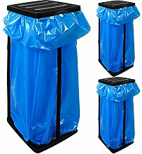 3 Müllsackständer für Müllsäcke bis max. 60 LITER - 70 x 35 x 30cm